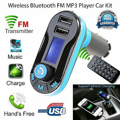 Wireless Bluetooth FM Transmitter Radio USB Remote Car Kit MP3 Music Player UK