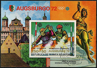 Equatorial Guinea 1972 Olympic Games, Canoeing Cto Used Imperf M/S #A92635