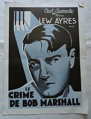 LEW AYRES/UP FOR MURDER/  L14S/french pressbook 30's