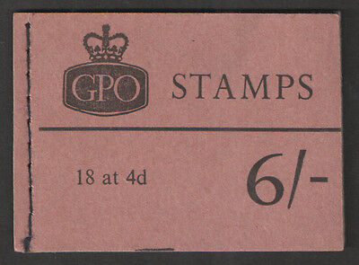 QP33 Elizabeth II February 1968 6/- Stitched Booklet Complete Cat £70