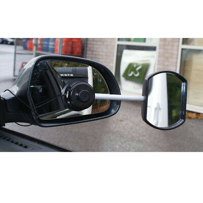 'Suck it & See' Extension Towing Mirror Flat Glass - Suction fitting - Caravan