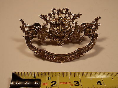 One Original Vintage brass lionhead pull (four avaialble)