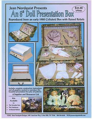 "Jean Nordquist's 8"" Fashion PRESENTATION Box w/Clothing Patterns PROJECT TO MAKE"