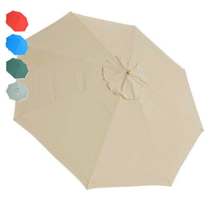 13FT Umbrella Replacement Canopy Cover 8 Ribs Outdoor Market Beach Patio Top Opt
