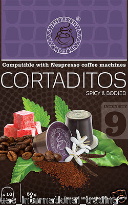 6 X10 CORTADITOS Capsules Nespresso Machine Compatible 60 Coffee Pods