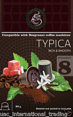 6 X10 TYPICA Capsules Nespresso Machine Compatible 60 Coffee Pods
