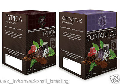 10 x10 Coffee Capsules Nespresso Machine Compatible Pods 2 Blends