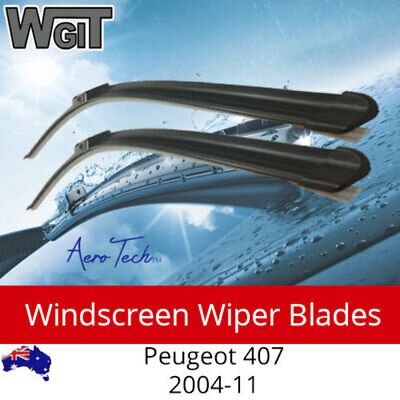 Windscreen Wiper Blades For Peugeot 407 2004-11 - Aero Design (PAIR)