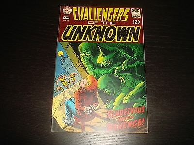 CHALLENGERS OF THE UNKNOWN #66  Silver Age   DC Comics 1969 Very Fine