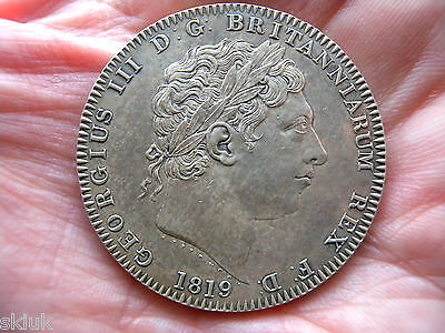 1819 Lix George Iii Crown Extremely Fine