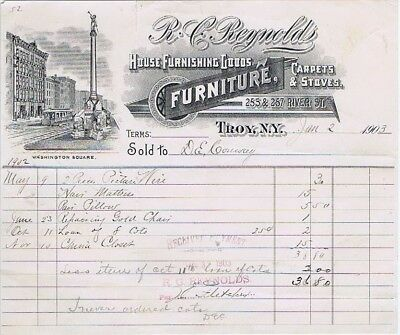 R. C. Reynolds House Furnishing Goods, Furniture, Carpets & Stoves Troy, NY 1903