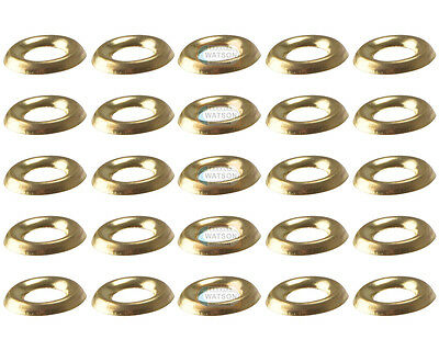 No.6 BRASS SCREW CUP WASHER Turned Pattern Socket Cabinet Furniture Pack 100