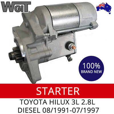 Starter Motor To Suit Toyota Hilux 3L 2.8L Diesel 08/1991-07/1997 (New)