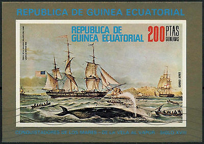 Equatorial Guinea 1975 Ships Cto Used Imperf M/S #A92710
