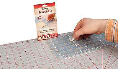 NEW | TrueCut TCGRIP | Non-slip Adhesive Grip Rings For Patchwork Rulers | 15 pk