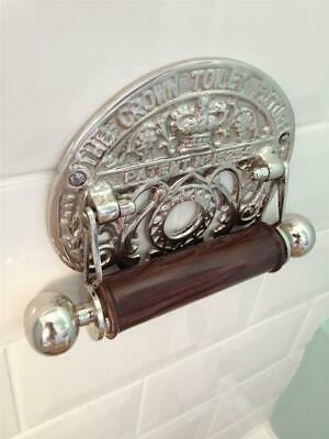Quality Vintage Antique Brass Chrome Toilet Roll Holder 2 Styles Bathroom Loo Wc