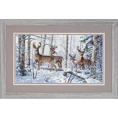 Dimensions D35130 | Woodland Winters Picture Counted Cross Stitch Kit 46 x 25cm