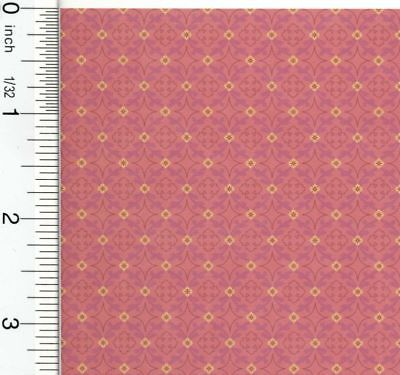 Dollhouse Wallpaper Victorian Gathering Red