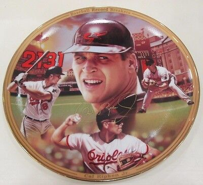 Cal Ripken Jr Autographed Bradford Plate Baltimore Orioles Iron Man Signed 2131