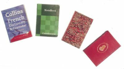 Dollhouse Miniature 1:12 Scale Set of 4 Vintage Books by Miniatures World
