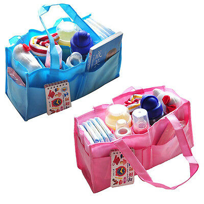 Portable Baby Nappy Changing Bags Mummy Bottle Storage Maternity Bag Organizer