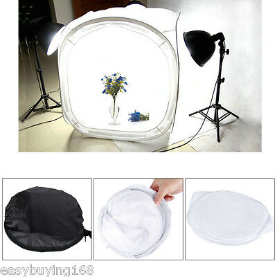 50cm Photo Studio Tente Tournage Light Softbox Kit Pliable Cube avec 4 Backdrops