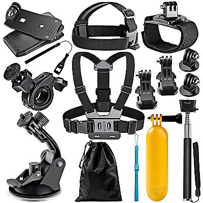 Neewer 12-In-1 Action Camera Accessory Kit for GoPro Hero 1/2/3/3+/4/5