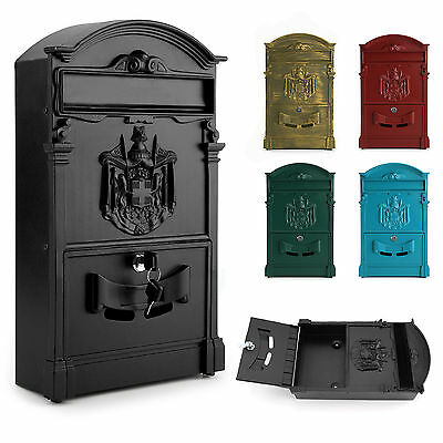 Lockable Secure Postbox Letterbox Wall Mounted Stainless Mail Post Letter Box