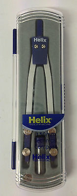 Helix 130mm Technical Compass And Replacement Leads With Case
