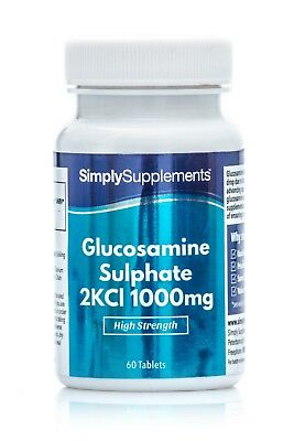 Glucosamine Sulphate 1000mg *60+60 (120Tablets) *Supports Active Lifestyle
