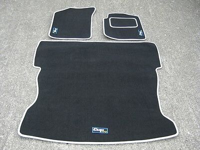 No Rear Seats Racing XL Black SUPER VELOUR Boot Mat to fit Renault Megane Mk3
