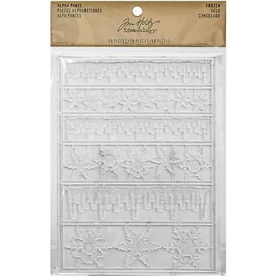 Tim Holtz Alpha Parts FROZEN TH93246 Holiday Christmas