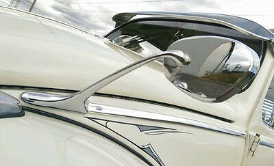 HOODED SWAN NECK MIRRORS for VW Beetle Bug Type 1 Albert Oval  PAIR AAC127