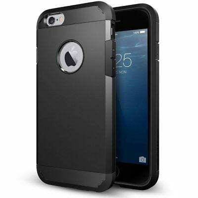 Luxury Armor Case for iPhone 6S 6 Slim Back Cover Black