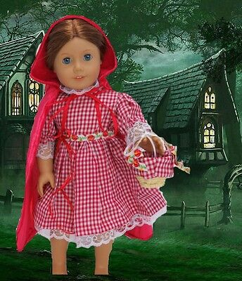 Little Red Riding Hood 3 piece Set made for 18 inch American Girl Doll Clothes