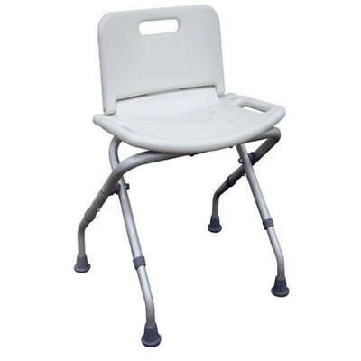 Lightweight Folding Bath and Shower Stool with Back