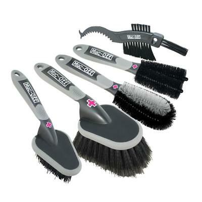 Muc-Off 5 Brush Set - Premium Brush Kit - Bike, Cycle, Car Cleaning Brushes