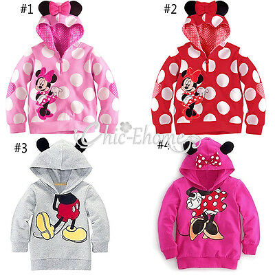 Baby Girl Minnie Mouse Top Shirt Hoodie Sweatshirt Outfit Halloween Xmas Clothes