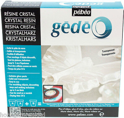Crystal Resin Clear Resin Kit Set Pebeo Gedeo Moulding Casting Resin 300ml New