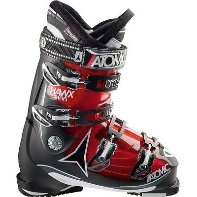 2015 Atomic Hawx 2.0 100 Transparent Red/Black Size 25.5 Men's Ski Boots
