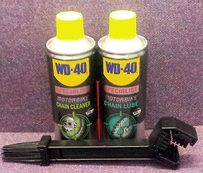 WD40 Specialist Motorbike CHAIN LUBE, CHAIN CLEANER AND CHAIN BRUSH KIT