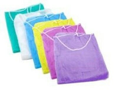 Disposable Isolation Gowns - White, 10pcs/Bag
