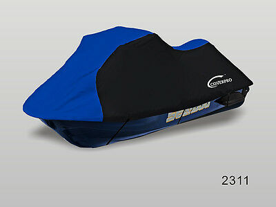 Seadoo Bombardier PWC GT,GTS GTX,GTI Jet Ski Trailerable Cover Black/Blue