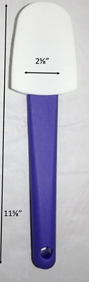 Tupperware Super Silicone Spatula Berry Bliss Blue Rare Long Handle New