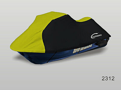 Seadoo Bombardier PWC GT,GTS GTX,GTI Jet Ski Trailerable Cover Black/Yellow