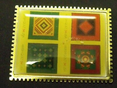 Lot of 3 US Postal Service 34 Cent Amish Quilt Stamp Magnet by Winco
