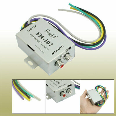 Auto Car Speaker to 2 RCA Line High Low Level Amplifier Converter
