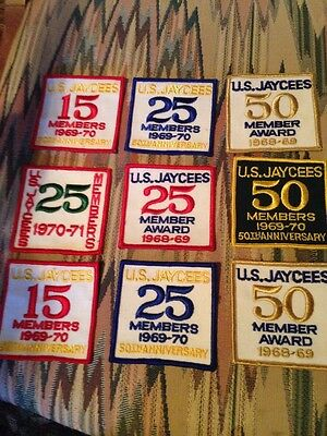 Vintage Jaycees Member Awards Patches Lot