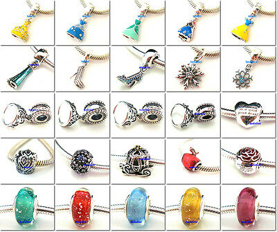 925 Sterling Silver Cartoon Character Series Suits Fit European Charm Bracelet