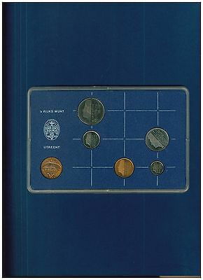 Netherlands 1982 Mint set six coins sealed in original plastic holder